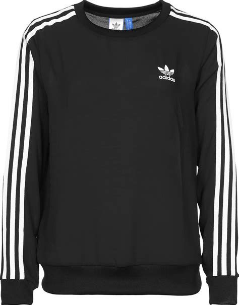 Sweater Black Addidas Basic adidas 3 stripes w sweater schwarz ebay