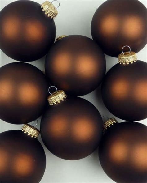 chocolate brown xmas ornaments chagne dreams come in