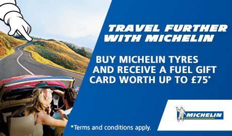 Michelin Fuel Gift Card - tyres mots servicing dexel tyre auto centre