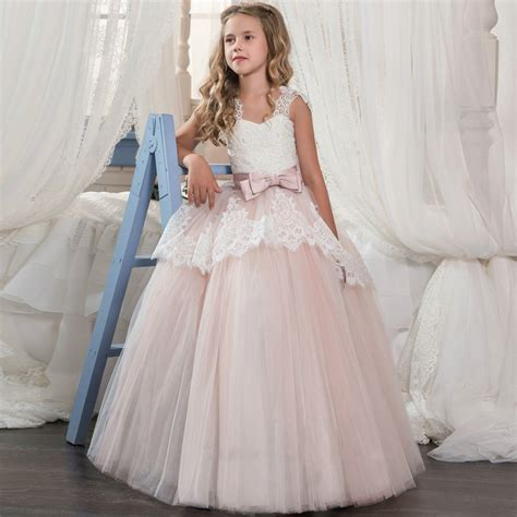 diy kids dress baby girl long lace sleeveless tutu dress