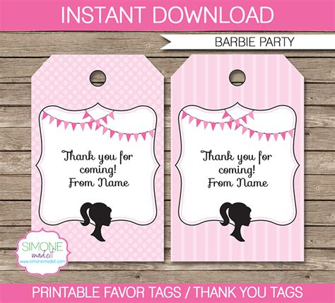 thank you favor tags template favor tags template thank you tags
