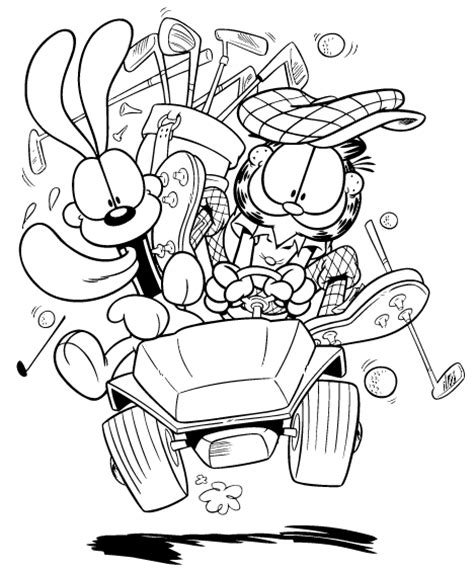 garfield coloring pages games coloring page garfield voiture coloring me