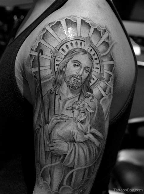 jesus tattoo half sleeve jesus tattoos tattoo designs tattoo pictures page 16