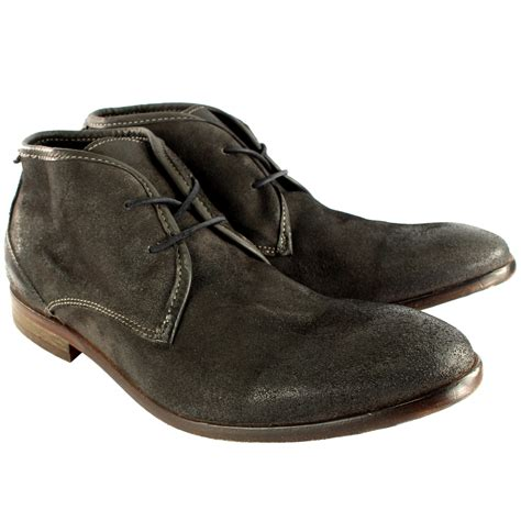 mens suede ankle boots uk mens h by hudson cruise suede lace up shoes smart ankle