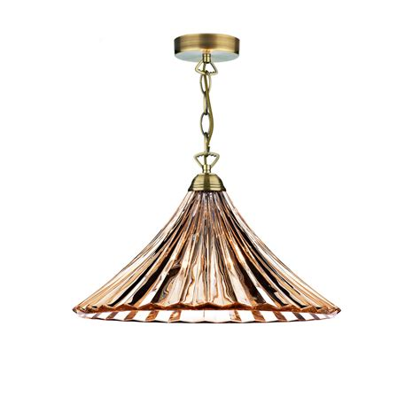 fluted glass pendant light dar ard866 ardeche 1 light fluted glass pendant