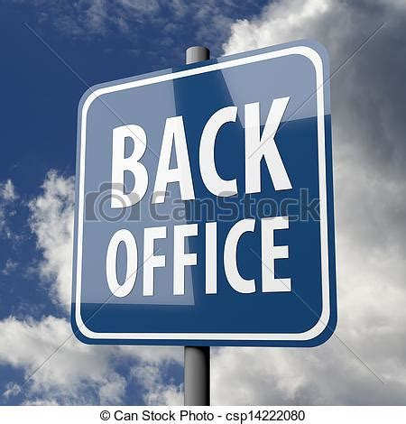 Back Office by Stock Illustration Of Road Sign Blue With Words Back