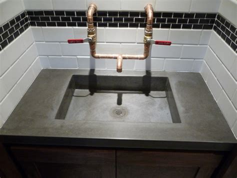 bathroom in garage the quot garage quot bar concrete sink modern bathroom salt