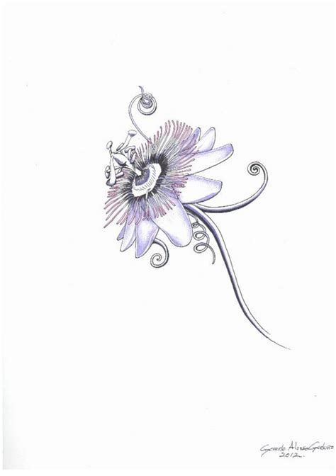 passion flower tattoo designs 33 best images on