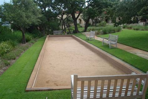 backyard bocce ball court backyards fun