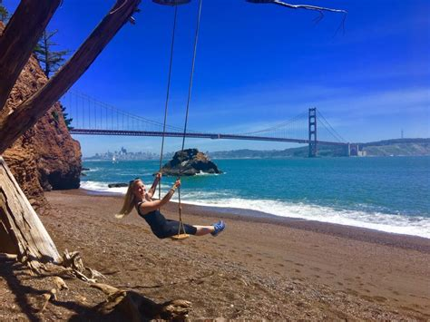 swing san francisco kirby cove swing view of golden gate bridge sf