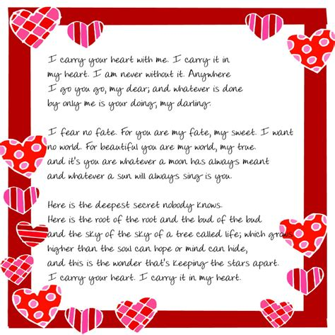printable valentines poems printable and 36 i gotta try that