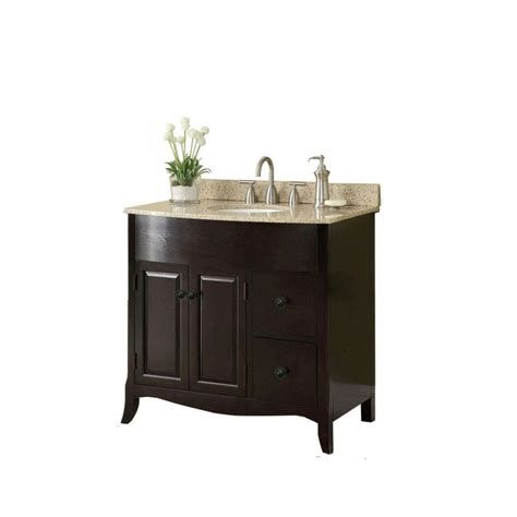Bathroom Vanity Cabinets With Tops 37 In W X 35 In H X 22 1 2 In D Vanity In Espresso With Granite Vanity Top In With