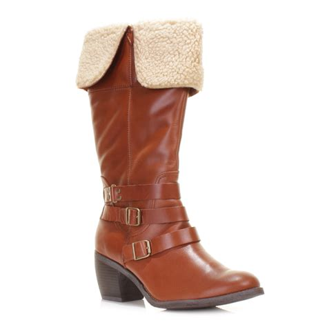 womens hush puppies rustique knee high leather