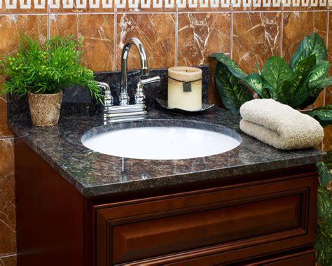 tan brown granite vanity tops