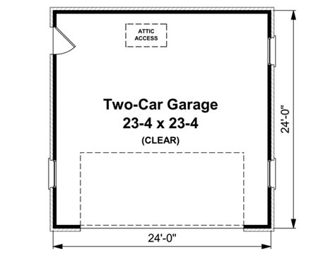 garage door floor plan garage plan 59119 at familyhomeplans com