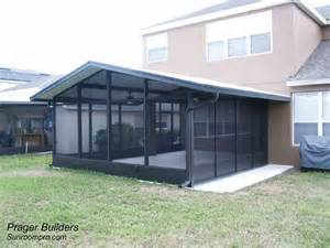 Diy Sunroom Plans Screen Room Winter Springs Florida Prager Builders