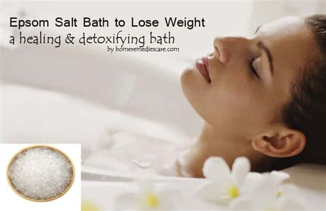 amazing epsom salt bath  lose weight