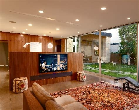 drop down screen converts tv room theater electronic