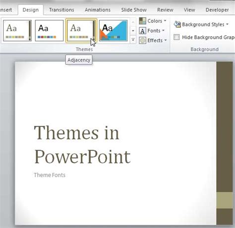 additional themes for powerpoint 2007 theme fonts in powerpoint 2007 and 2010 powerpoint tutorials