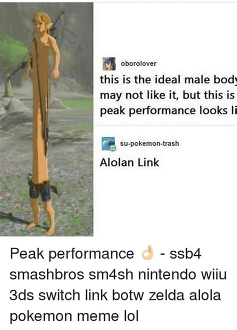 this is what the perfect male body looks like to both men 25 best memes about botw zelda botw zelda memes
