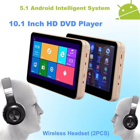 android player android 5 1 headrest 10 1 inch monitor hd 4 car dvd player wifi with wireless