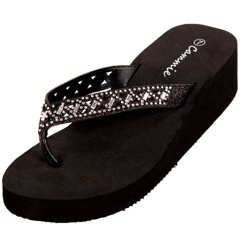 high heel flip flop womens platform flip flop sandals heel wedge high