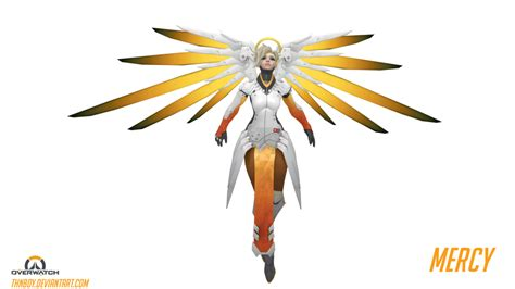 overwatch mercy by thnbdy on deviantart