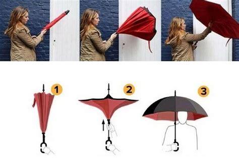 Payung Terbalik Biru kazbrella payung unik terbalik solusi tepat di musim hujan