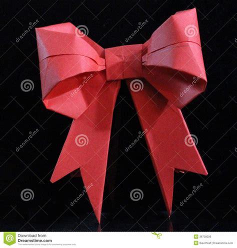 how to make folded ribbon animals origami bow royalty free stock images image 36709209