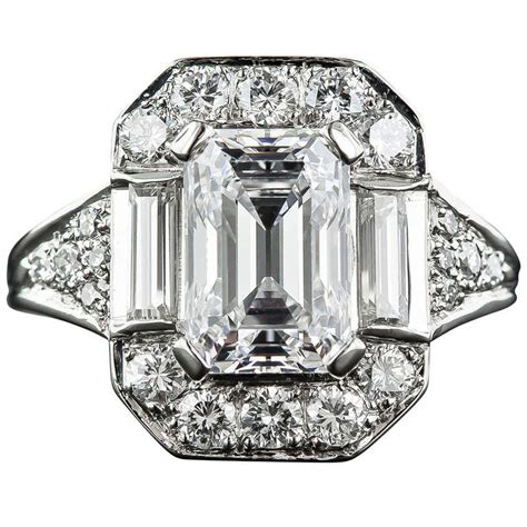 2 45 carat emerald cut ring
