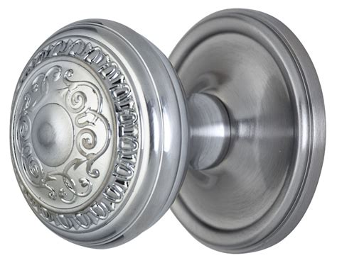 Brushed Nickel Interior Door Knobs 2 Inch Romanesque Door Knob With Style Rosette Brushed Nickel Finish