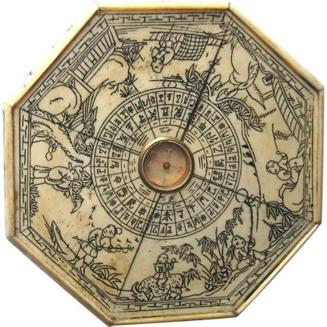 old oxbone feng shui compass from hopibooks on ruby lane