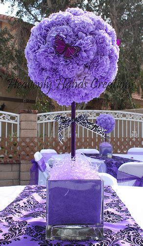 tissue paper centerpieces baby shower purple baby shower tissue paper flower topiary centerpiece