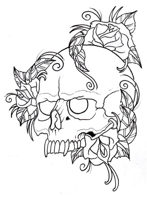 skull coloring pages with rose enjoy coloring coloring