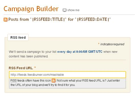 create an email newsletter from your rss feed with mailchimp