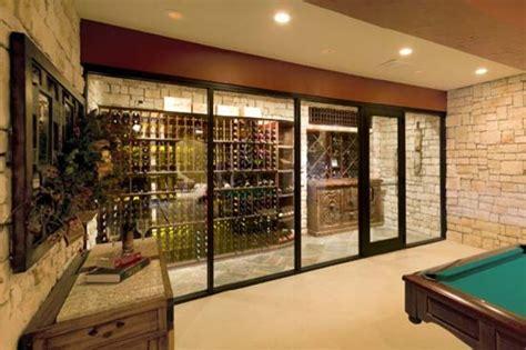 Home Landscape Lighting Design by Wine Cellar With Glass Door Mediterranean Wine Cellar