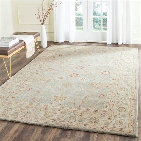 Gray And Beige Area Rug Safavieh Antiquity Grey Blue Beige 6 Ft X 9 Ft Area Rug At822a 6 The Home Depot