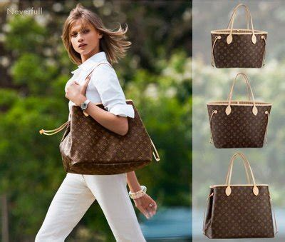 Lv Never Mono the chic sac louis vuitton neverfull mm 3 colors