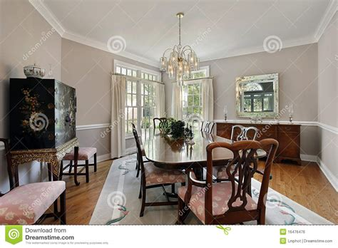 Grey Dining Room Carpet Dining Room With Gray Carpet Royalty Free Stock Image