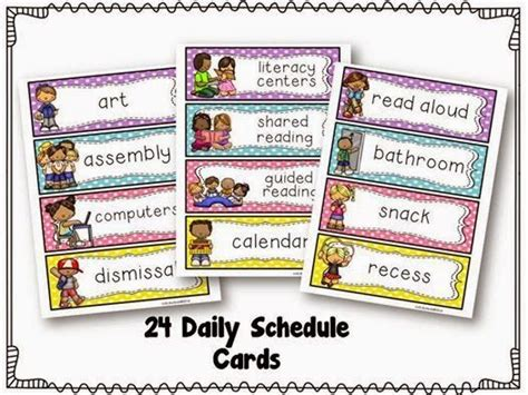 printable daily schedule cards free printable buses and student on pinterest