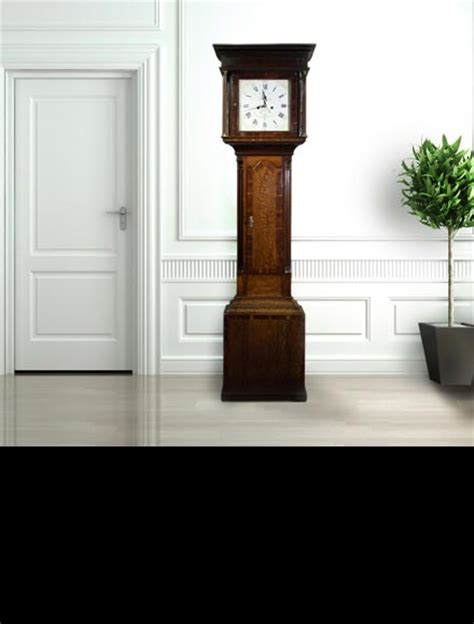 cabinet maker renowned for his chairs oak longcase clock 30 hour and 8 day movements