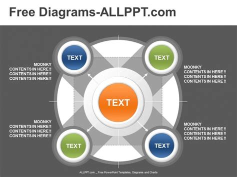 5 relationship powerpoint diagram template download free