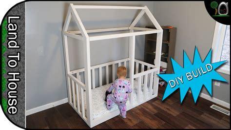 build  toddler house bed frame youtube