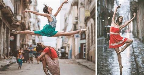 ballet dancers show  skills   streets  cuba