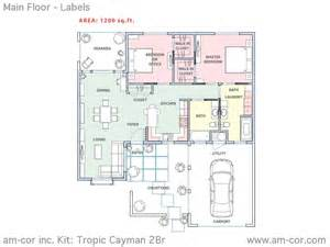 Two Bedroom House Plans the tropic series am cor inc ferrocement construction