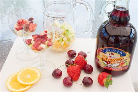 fruit 20 ingredients sangria with fruits
