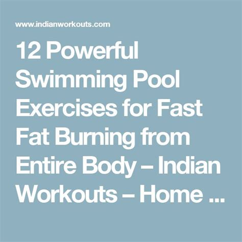 best 25 swimming pool exercises ideas on