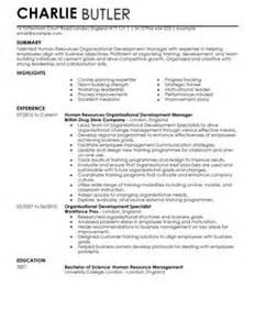 Organisational Development Cv Example For Human Resources