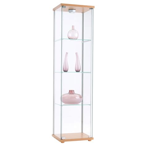 detolf glass door cabinet black brown glass doors