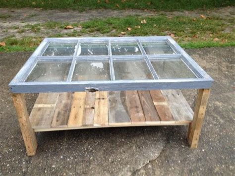 Reclaimed Window Pallet Coffee Table Pallet Furniture Plans Vintage Window Coffee Table